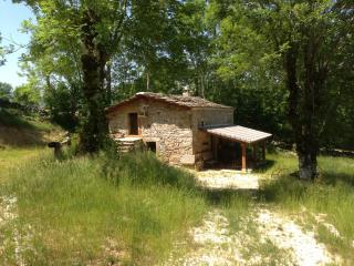 Cabaña típica pasiega de piedra