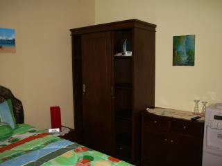 Wardrobe and side table.