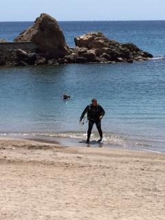 Scuba diving on Cartegena beach