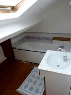 Upstairs bathroom under the eaves