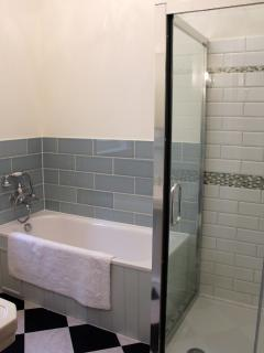 Bathroom with separate bath and shower