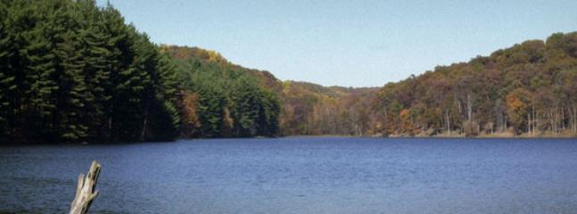 Lake Hope State Park is nearby.