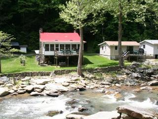 The Applehouse on a Stocked Trout River Western NC, Chimney Rock