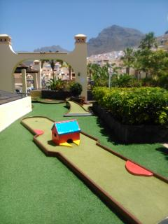 Mini golf over looking stunning mountain views.
