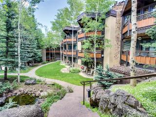 Woodsy ski-in/out condo w/two shared hot tubs, right next to the slopes!, Snowmass Village