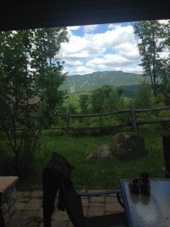 Back patio view onto the mountain