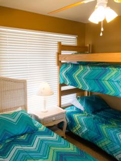 Second Floor Bedroom With 1 Queen Bed And Bunkbeds