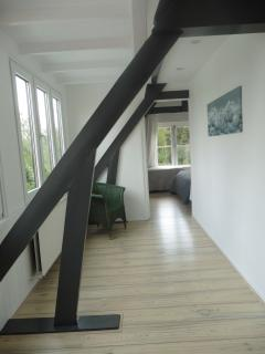 upstairs to the bedrooms