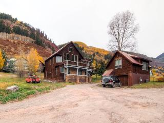 Enjoy the convenience of walking everywhere in downtown Telluride and also the peace and quiet of Telluride`s East End.