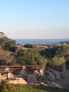vista mare dalla zona relax esterna