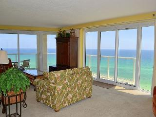 Gorgeous 180* views of the Gulf & beach with unique, wrap-around balcony!