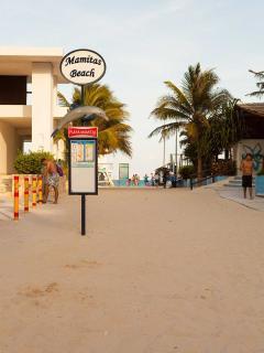 Entrance to Mamitas Beach just a short stroll from Las Olas