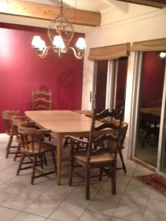 Dining area off of the kitchen