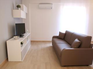 Il soggiorno con divano letto matrimoniale