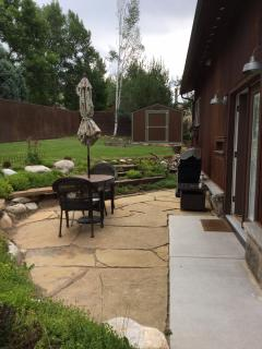 Patio Area with Shed to Store Extras