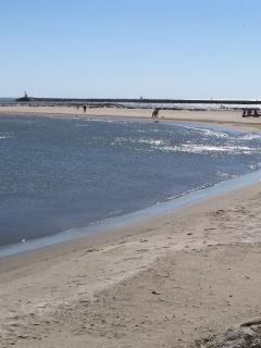 plage près des arènes, par temps de Mistral