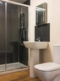 Oversized shower cubicle