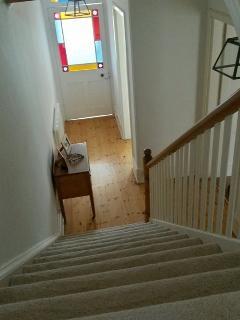 Three storey house with wide stairways