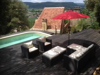 MAISON DU ROC - BEAUTIFUL STONE HOUSE WITH PRIVATE POOL BUILT INTO THE HILLSIDE