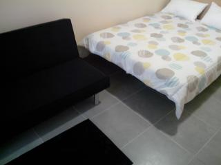 Double bed and convertible sofa