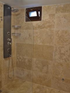Luxury walk in shower