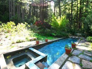 """Secret Garden"" Private Sanctuary. Lap Pool, Fire Place, Quiet! UnPlug!!, Monte Rio"