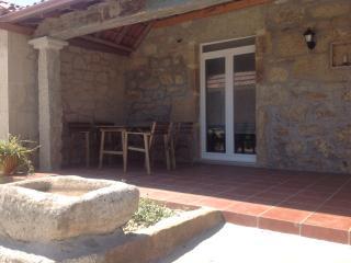 Vistas del porche y la mesa