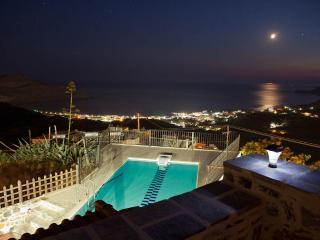 Villa Aretousa, privater Pool, Blick zum libyschen Meer, Myrthios