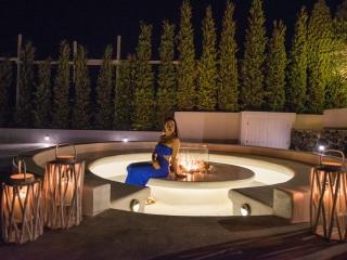 Unpretentiously luxurious. Thiw is our outdoor fire pit, next to the reception.