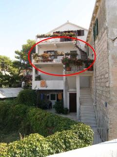 The apartment is situated on the second floor