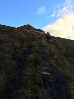 hike to the top of Ben Wyvis 900m altitude