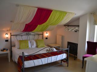 La Majella Apartment, double bedroom. Views of mountains.
