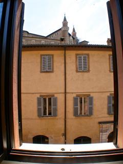 La vista dalla finestra della Camera dei Duchi / The view from the Dukes's Room window