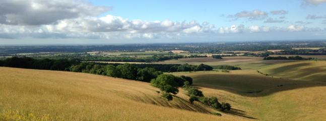 View to Chichester from the Trundle, just above our house.