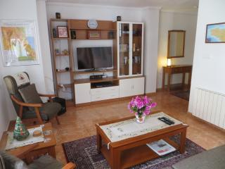 Living area with TV and stereo