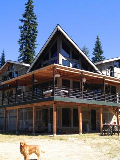 Lodge home pictured in mid summer