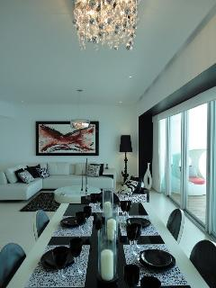 Enjoy the warm atmosphere with friends and family around the dining room