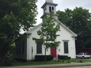 Renewed 1858 Meetinghouse in Kennebunk Village Cen