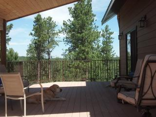 Pets are welcome and relax on the deck