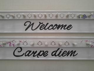 At the entrance we welcome you in our newly refurbished apartment :)
