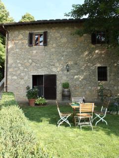 Entrance and private garden