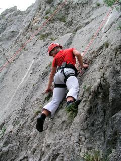30 min by car, rocks for climbing