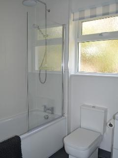 Newly fitted bathroom with powerful shower