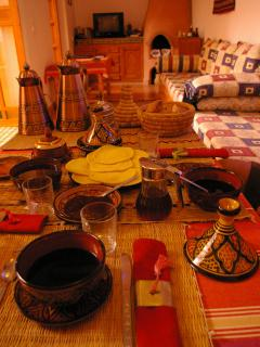 un petit dejeuner marocain au salon