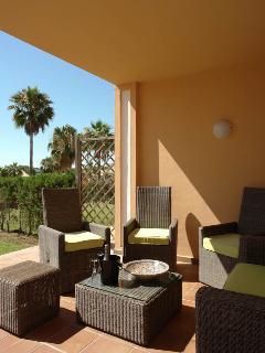 lounge on terrace gardenside