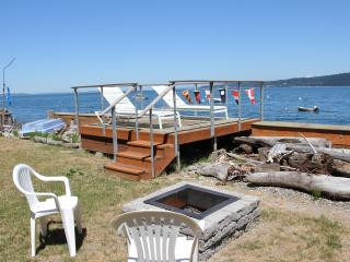 Beach side deck and fire pit