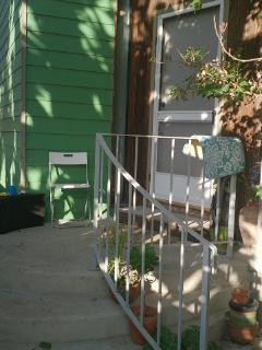 Front porch with handrail