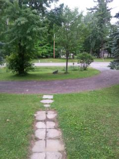 View of the driveway and road from the front of the house.