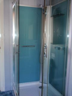 Shower cubicle in bathroom