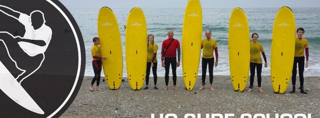 Local surfing school at at portreath ans Porthtowan beaches.
